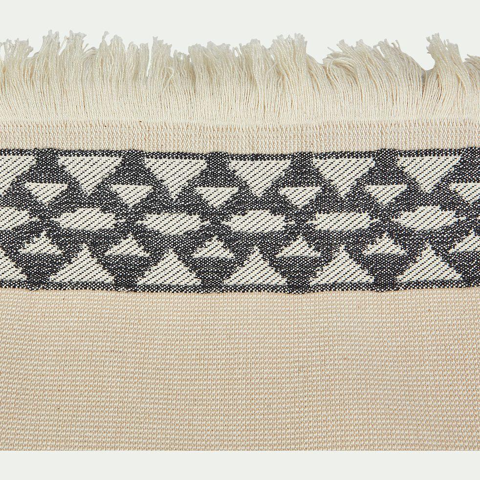 Drap de plage fouta en coton écru 100x180cm-OSIRIS
