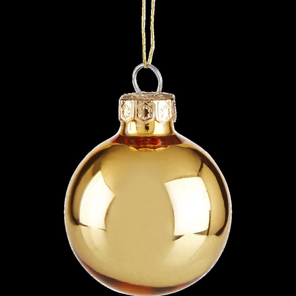 16 Boules De Noël En Verre Doré D35cm Olan Alinea
