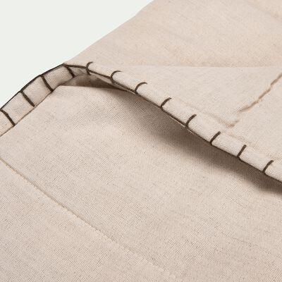 Plaid en lin et coton finition point de cheval - naturel 130x170cm-SCACCHI