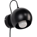 Applique en métal noir D12cm-BALL
