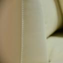 Canapé 5 places fixe gauche en cuir  beige roucas-TESSOUN
