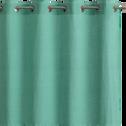 Rideau lin & coton turquoise uni 140x250 cm-TALIE