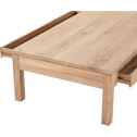 Table basse en teck recyclé 80x150cm-EMOTION