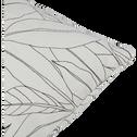 Coussin d'extérieur déperlant blanc ventoux 40x40cm-Trayas