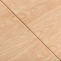 Table basse carrée plaquée chêne avec 2 plateaux relevables-MAA