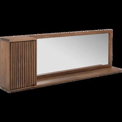 Meuble étagère miroir en acacia 150x24.5x70 cm-LOUVANS