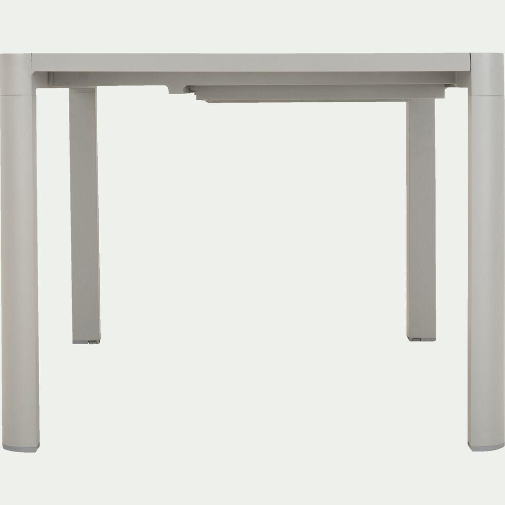 Table de jardin extensible en aluminium - gris-TISOT