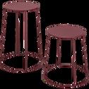 Table d'appoint de jardin - rouge sumac (D34cmxH43cm)-Ikaria