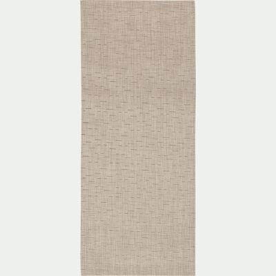 Tapis de cuisine effet tissé - beige roucas 50x120cm-VITOU