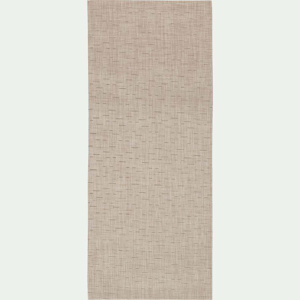 Tapis de cuisine effet tissé beige 50x120cm-VITOU