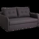 Canapé convertible déplimousse 3 places en tissu gris-VINYL