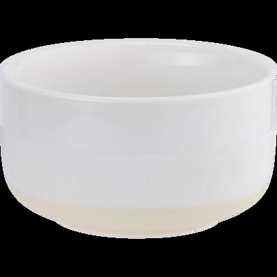 Coupelle en porcelaine blanc nougat D10,2cm-LANAU