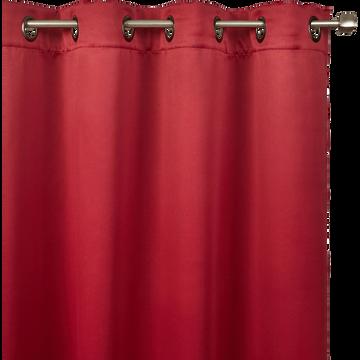 Rideau occultant à oeillets rouge sumac 140x250cm-GORDES