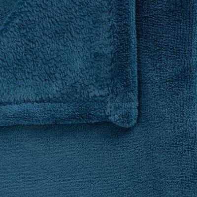 Plaid polaire 100x100 cm - Bleu figuerolles-AMELIE
