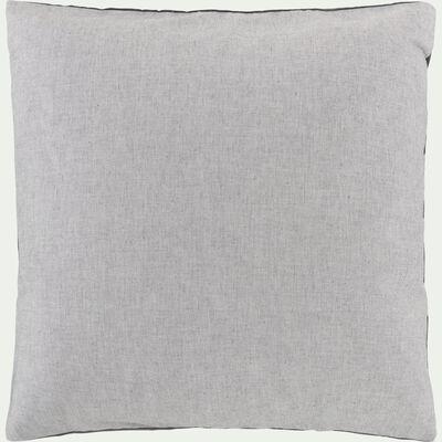 Lot de 2 taies d'oreiller en coton chambray - gris 65x65cm-CHAMBRAY