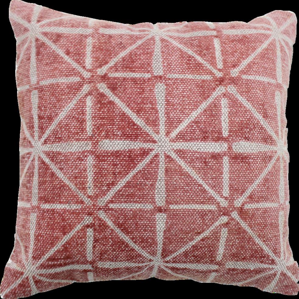 Coussin en coton rouge à motifs 40x40cm-GOCHAS