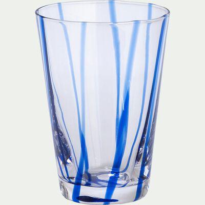 Verre à eau - bleu D8xH11cm-MADERE