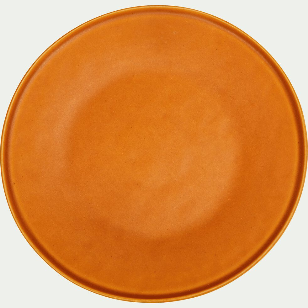 Assiette à dessert en grès orange D22cm-COPA