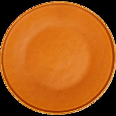 Assiette à dessert en grès orange D22cm-COPA