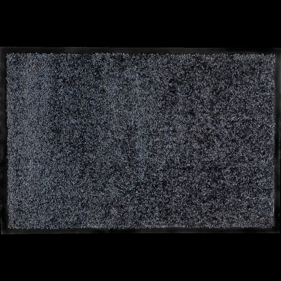Tapis d'entrée paillasson gris foncé 60x90cm-BEN