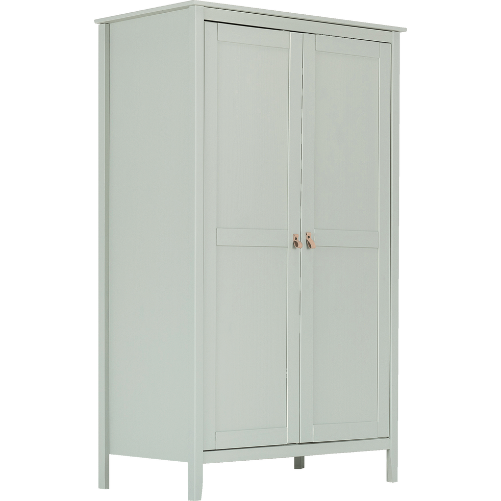 Armoire 2 portes pin massif vert olivier-LISON