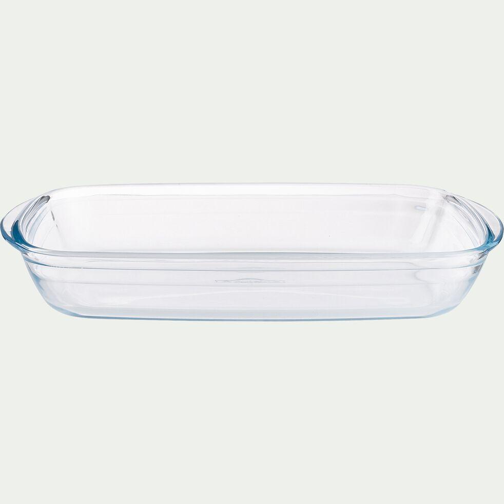 Plat rectangulaire en verre borosilicate 32x20cm-AZET