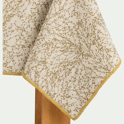 Nappe en lin et coton blanc 170x250cm-GINKO