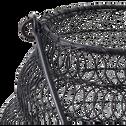 Lanterne en métal noir D20xH21cm-Ugue