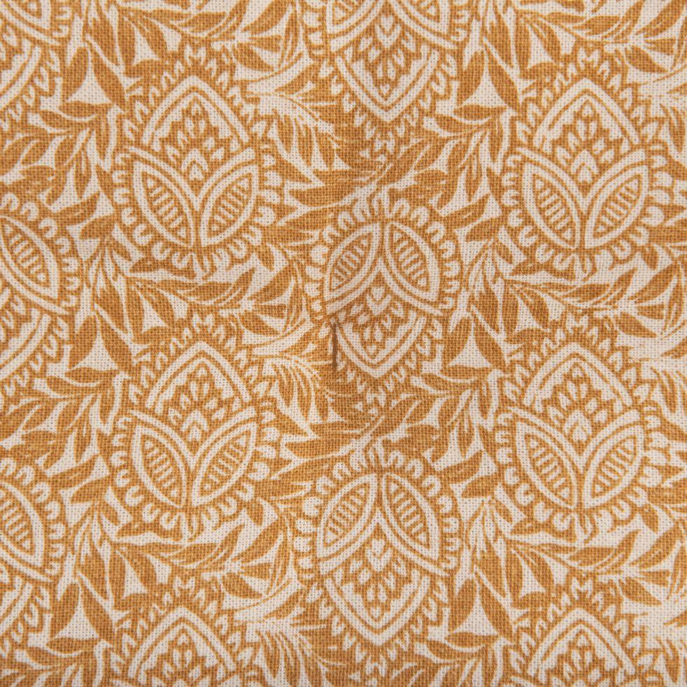 MIKO - Galette de chaise de jardin en coton déperlant beige estérel