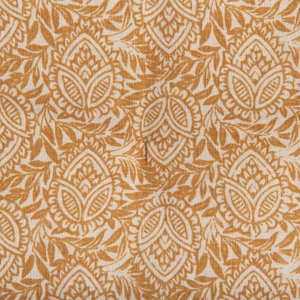 Galette de chaise de jardin en coton déperlant beige estérel-MIKO