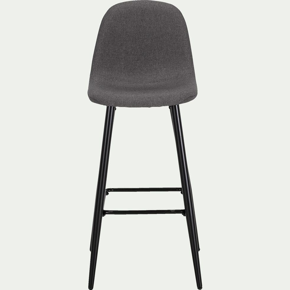 Chaise de bar H75cm - gris ardoise-LOANA