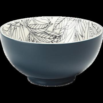 Coupelle en porcelaine bleu figuerolles motifs laurier D11cm-AIX