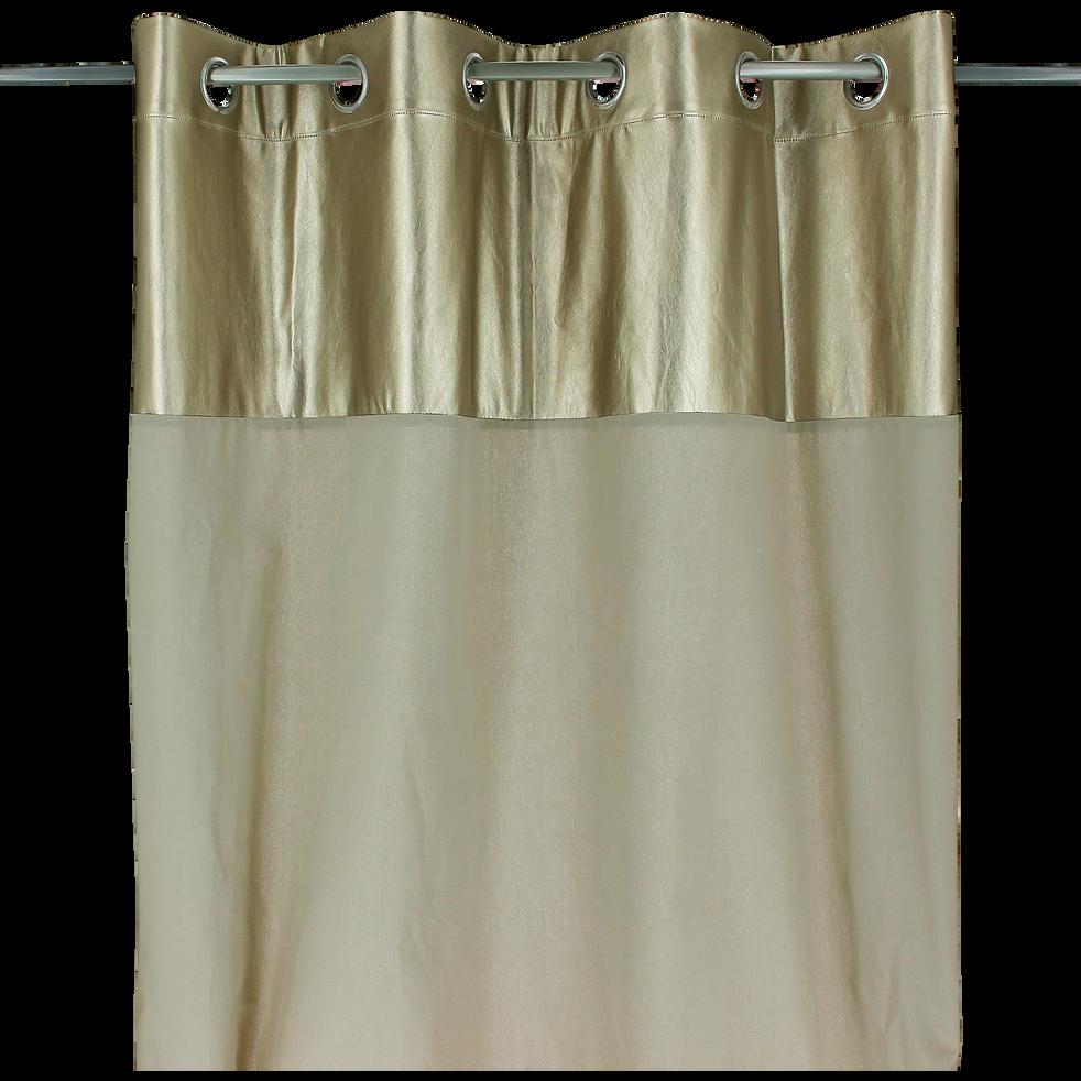 rideau illets beige et dor 140x250cm golden rideaux alinea. Black Bedroom Furniture Sets. Home Design Ideas