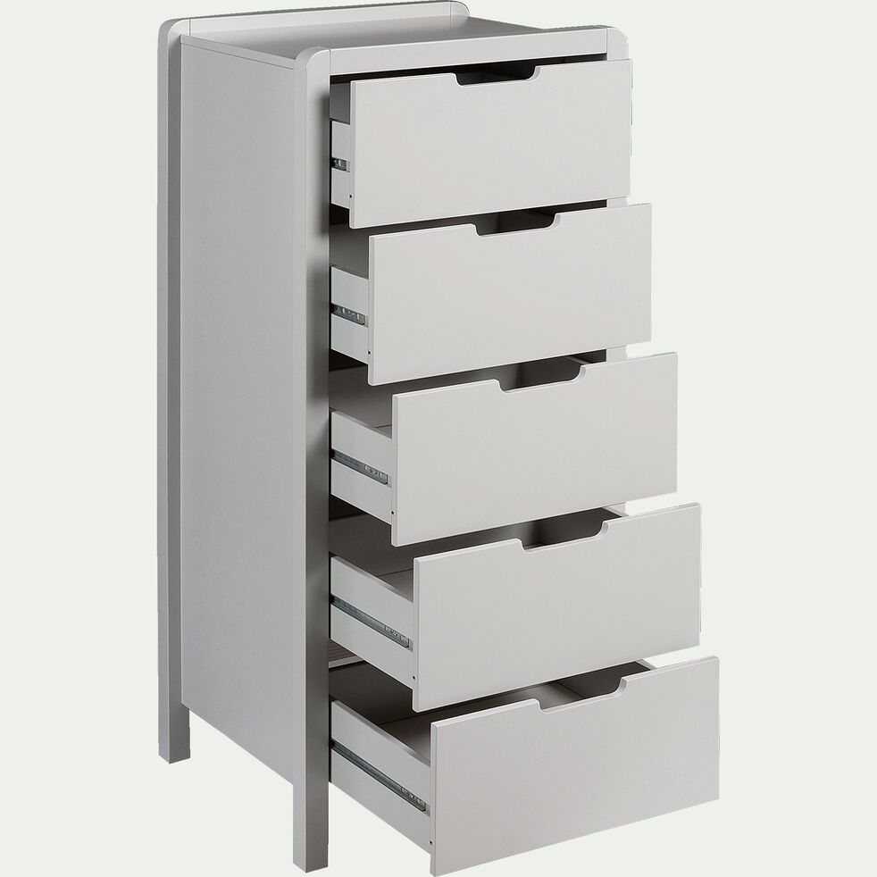 Chiffonnier 5 tiroirs gris borie-JAUME