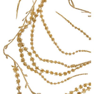 Guirlande pin doré en plastique L150cm-ELEKTRA