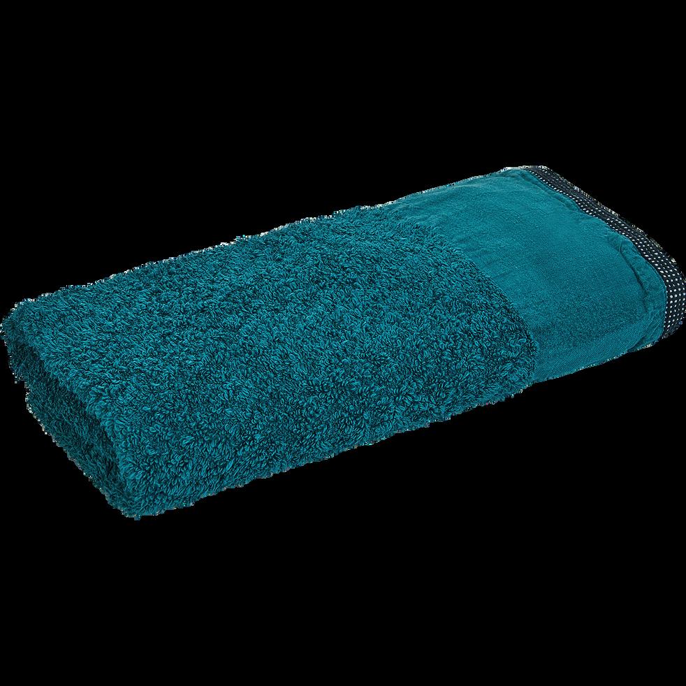Serviette 45x100cm bleu niolon-ADONI