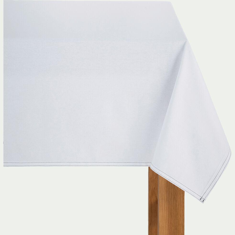 Nappe en coton blanc 145x145cm-VENASQUE