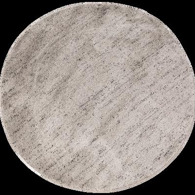 Tapis rond gris clair moucheté D160cm-STESSY