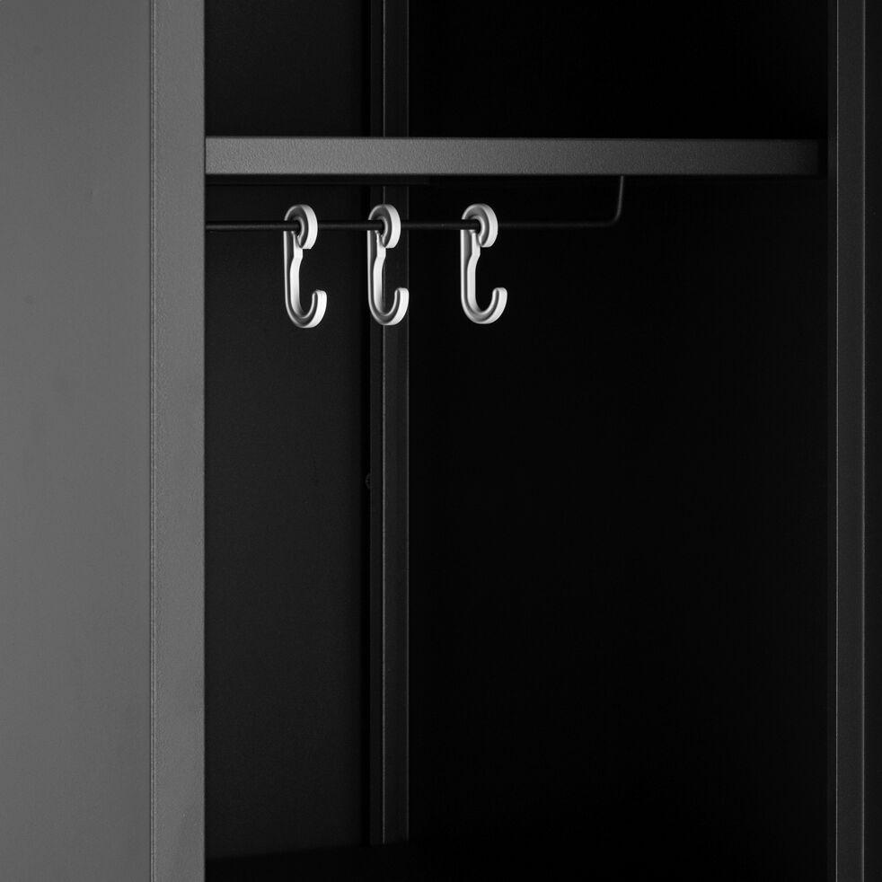 Armoire 1 porte en métal - H200xl50xP47,50 cm noir-LOFTER