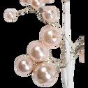 Branchage artificiel en plastique blanc H25,4cm-CELESTINE