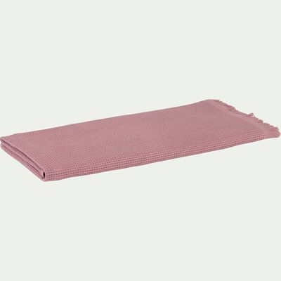 Drap de douche en coton rose 70x140cm-JELENA
