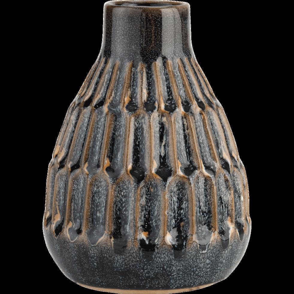 Vase en céramique vert H15,5cm-NARYN