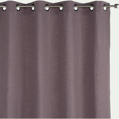 Rideau à œillets en ramie et coton - gris restanque 130x250cm-RAMY