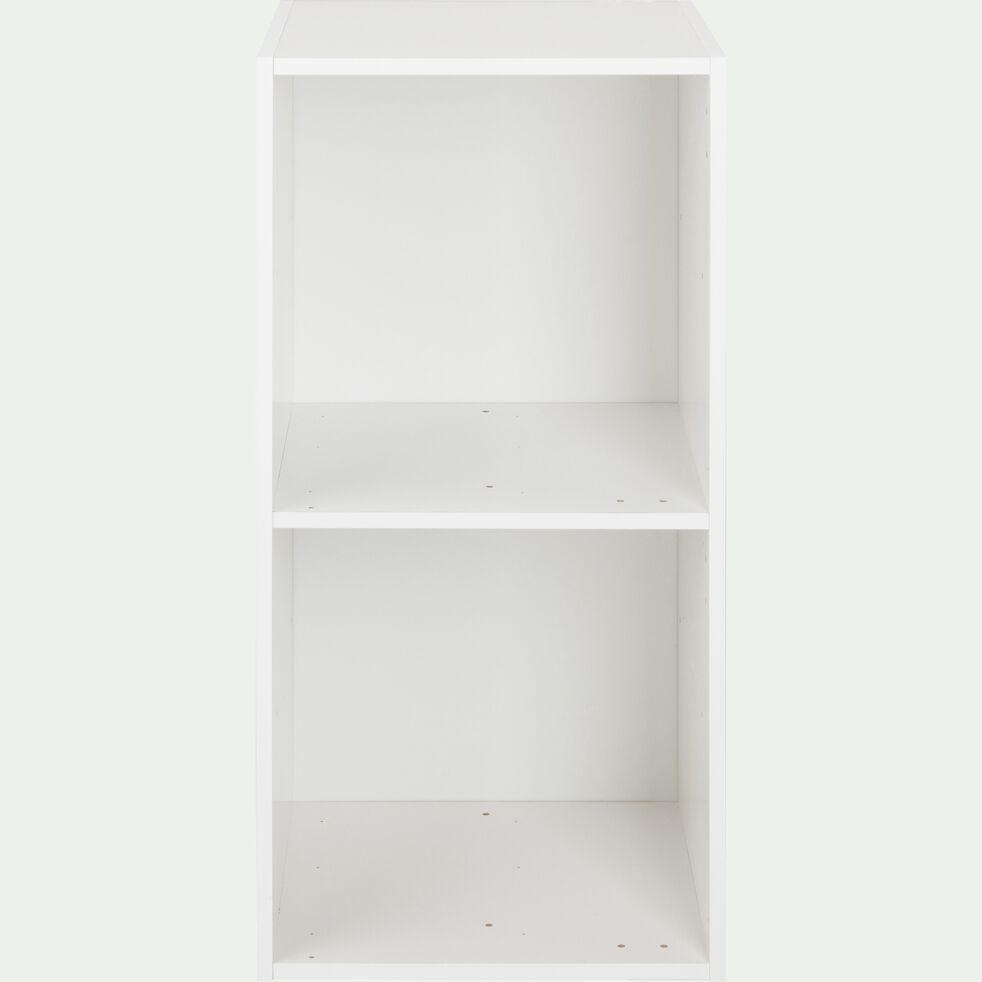 Structure 2 cases en bois H68,8cm - blanc-Zac