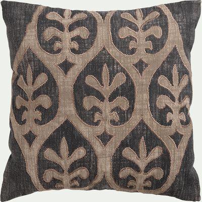 Coussin inspiration orientale en coton - marron 45x45cm-RAYAK