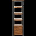 Colonne de salle de bain en acacia et métal 185cm-Kota