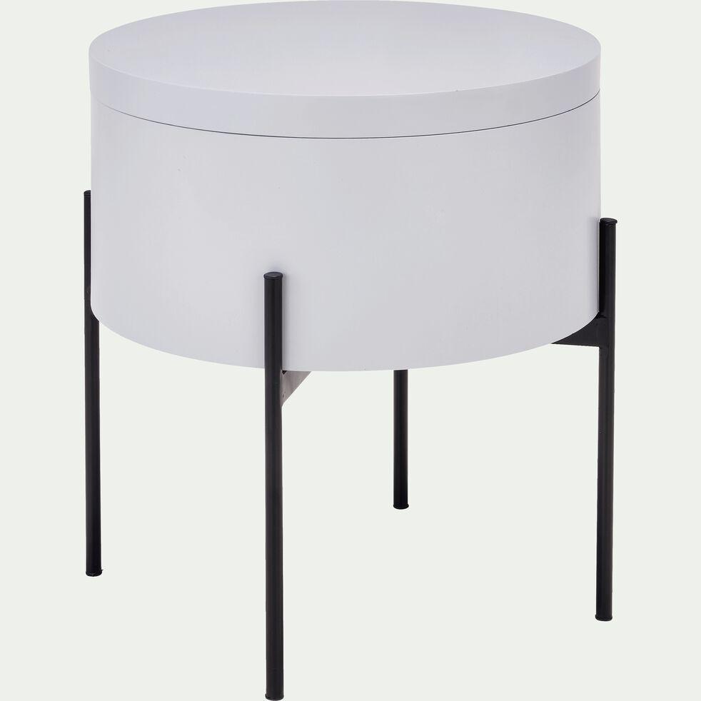 Bout de canapé gris borie avec coffre de rangement-DOUFINO