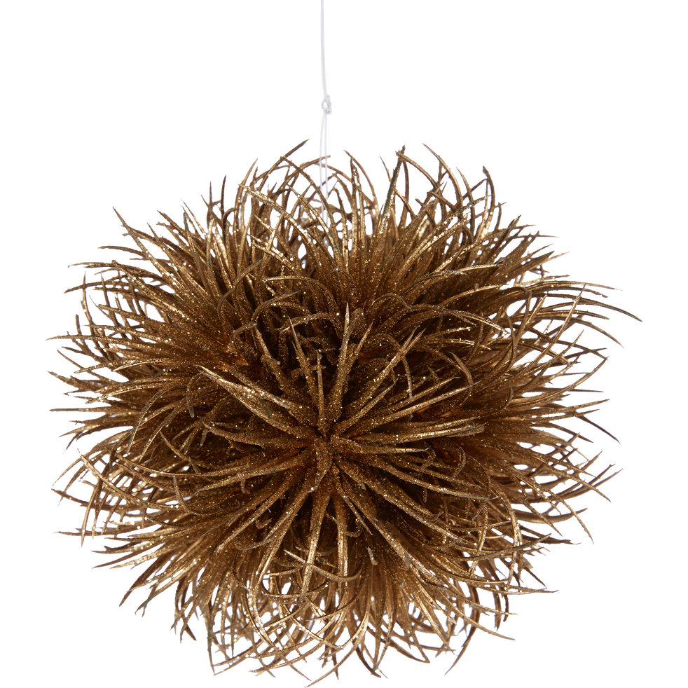 Boule de Noël en plastique doré D11,4cm-AISSA