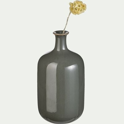 Vase céramique vert H15cm-CHIN