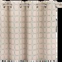 Rideau à oeillets en coton écru 140x250cm-MOUCHA